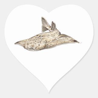 Angelote, shark angel heart sticker