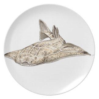 Angelote, shark angel melamine plate