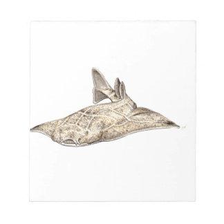 Angelote, shark angel notepad