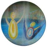 Hand shaped Angels 27.3 cm Decorative Porcelain Plate