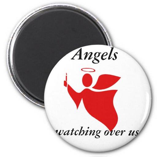 ANGELS 2 INCH ROUND MAGNET