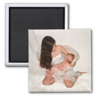 Angels 2 Inch Square Magnet