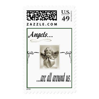 Angels All Around Postage Stamp