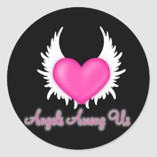 Angels Among Us Classic Round Sticker