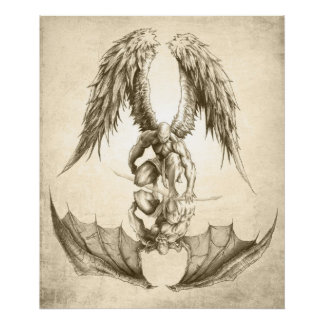 Angels and Demons - Reflection Posters