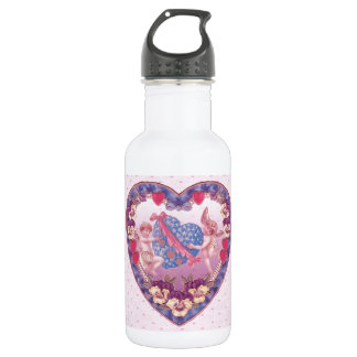 Angels and Hearts Stainless Steel Water Bottle