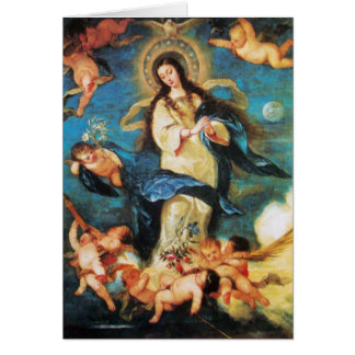 Angels and Immaculate Conception of Virgin Card