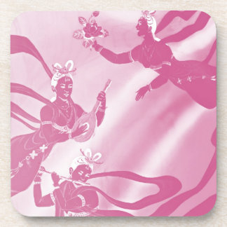 Angels And Music in Pink Hues Coaster