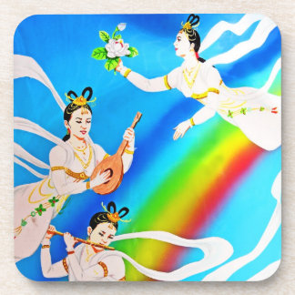 Angels And Music with Rainbow (2) Coaster