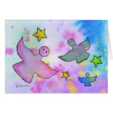 Angels and Stars Card at Zazzle
