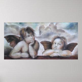 Angels, ángel poster print imprimes raphael