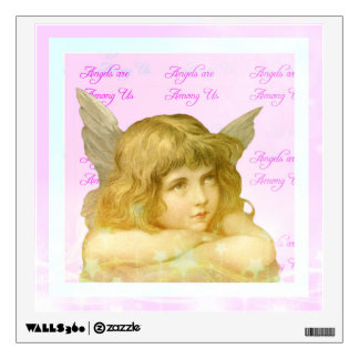 Angels are Among Us Pretty Girl Pink Angel Room Graphic
