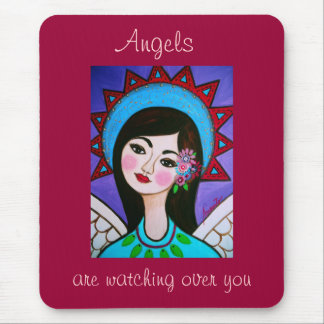 ANGELS ARE WATCHING OVER YOU BY PRISARTS MOUSE PAD