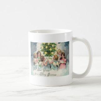 Angels Around Christmas Tree Coffee Mug