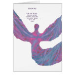 Angels art Pastel Colors bible verse Psalm 91:11 Greeting Cards