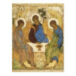 Angels At Mamre Trinity Postcard