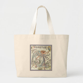 Angel's Breeze ~ Vintage Art Nouveau Large Tote Bag