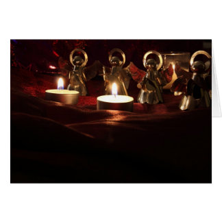 Angels by candlelight greeting card