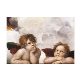 Angels by Raphael from the Sistine Madonna Canvas Print