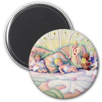 ANGELS by SHARON SHARPE 2 Inch Round Magnet