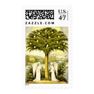 Angels by the Tree of Life Stamp