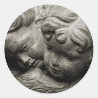 Angels Classic Round Sticker