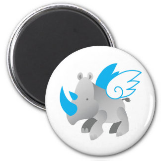 Angels come in all sizes RHINO 2 Inch Round Magnet