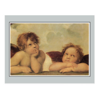 Angels, Cupids from the Sistine Madonna Raphael Postcard