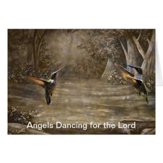 Angels Dancing for the Lord Greeting Card