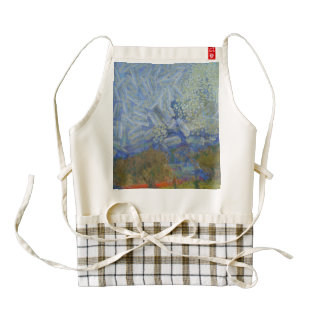Angels descending to the earth zazzle HEART apron