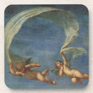 Angels Detail from Adonis Led by Cupids by Albani Beverage Coaster