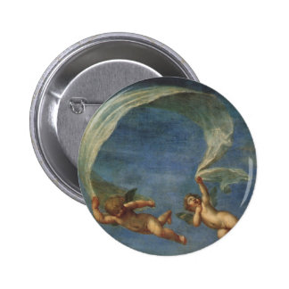 Angels Detail from Adonis Led by Cupids by Albani 2 Inch Round Button