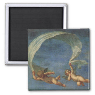 Angels Detail from Adonis Led by Cupids by Albani Magnet