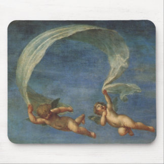 Angels Detail from Adonis Led by Cupids by Albani Mouse Pad