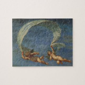 Angels Detail from Adonis Led by Cupids by Albani Jigsaw Puzzles