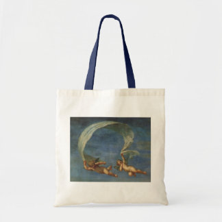 Angels Detail from Adonis Led by Cupids by Albani Tote Bag