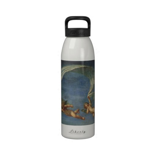 Angels Detail from Adonis Led by Cupids by Albani Reusable Water Bottles