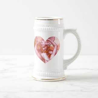 Angels Embrace Beer Stein