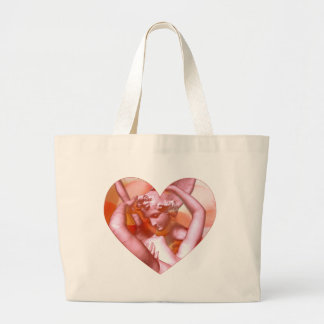 Angels Embrace Large Tote Bag