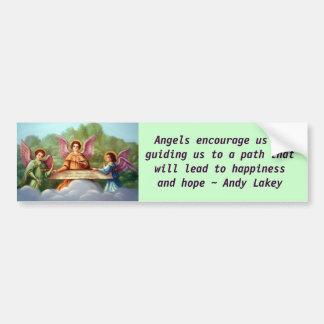 Angels encourage bumper sticker car bumper sticker