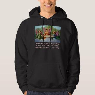 Angels encourage mens shirt. hoody