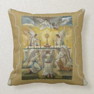 Angels Eucharist Adoration Altar Monstrance Pillow