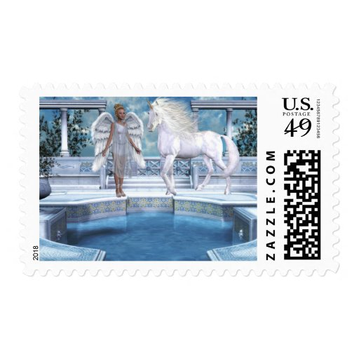 Angels Fae Unicorns Postage Stamps