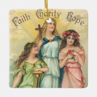 Angels~Faith, Hope & Charity Ornament