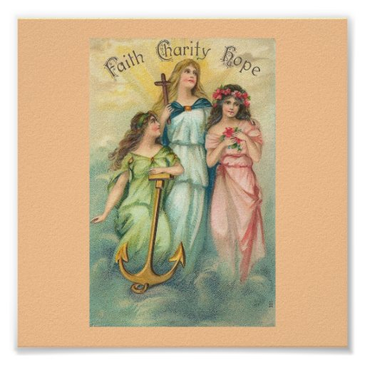 Angels~Faith, Hope & Charity Poster