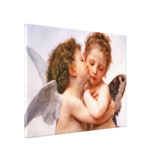 Angels First Kiss, Bouguereau Fine Art Canvas Print