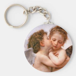Angels First Kiss, Bouguereau Keychain