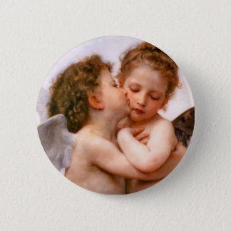 Angels First Kiss, Bouguereau Pinback Button