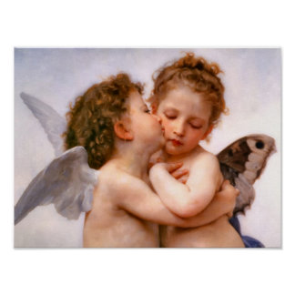 Angels First Kiss, Bouguereau Posters