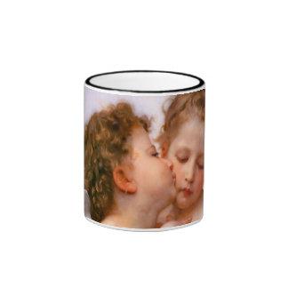 Angels First Kiss, Bouguereau Ringer Mug